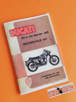 Instructions for use and maintenance 450cc over head camshaft motorcycle 197